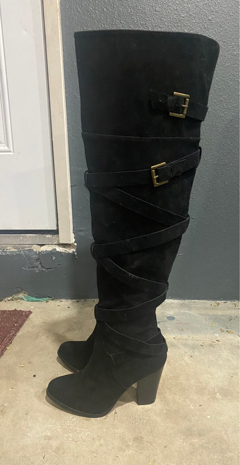 Black suede Boots***BRAND NEW