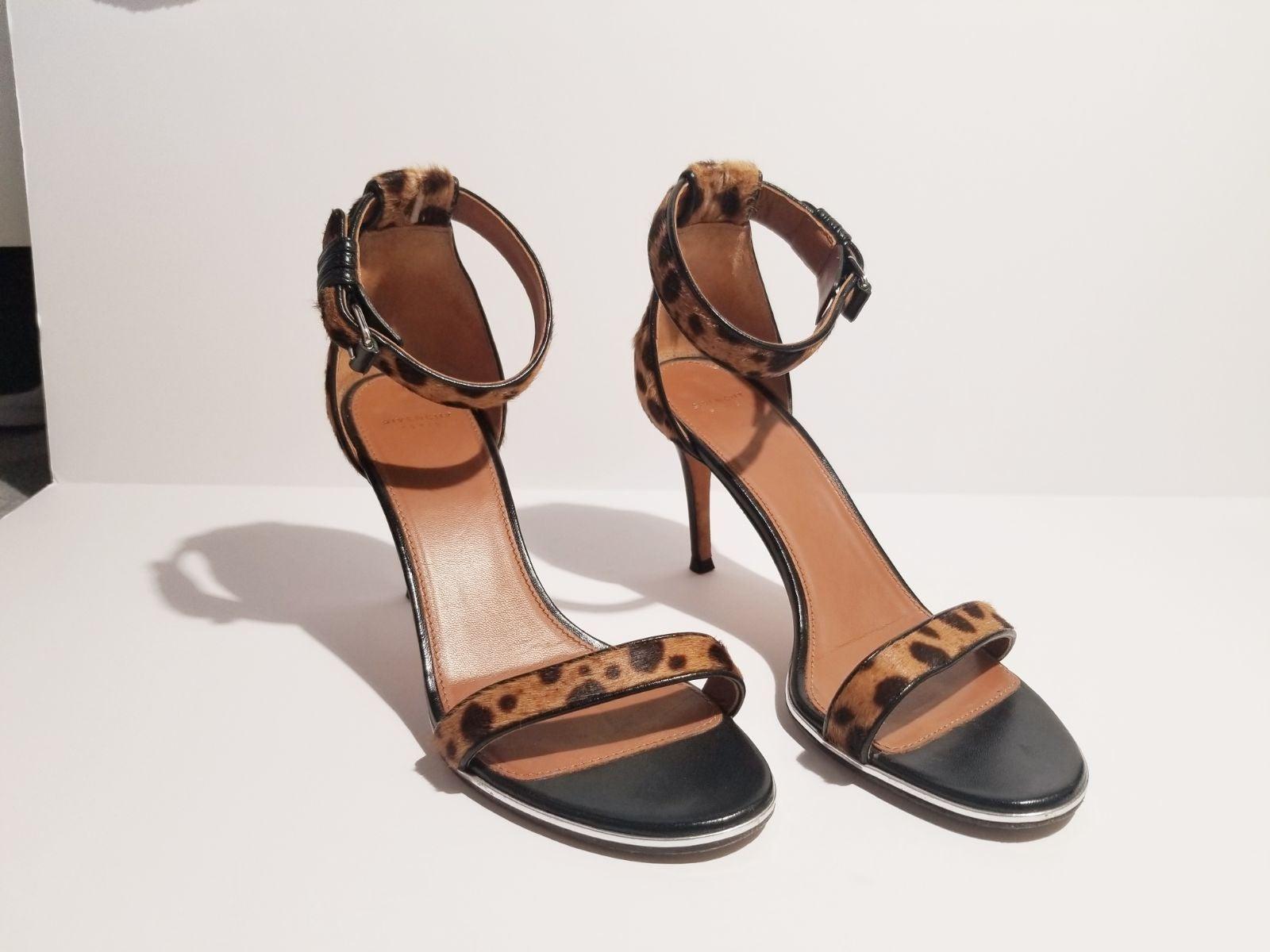 Givenchy Nadia Calf Hair Leopard Heels 7