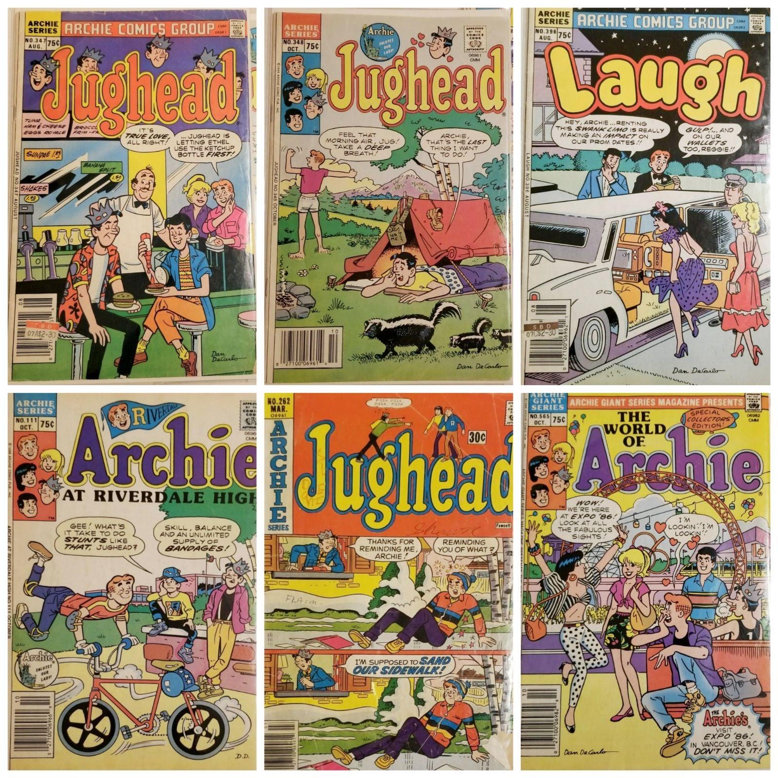 Lot of 6 Archie/Jughead/Laugh Comics