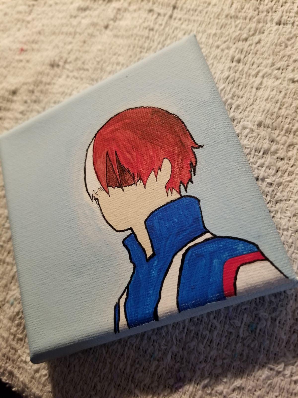 Todoroki 4x4 painting acrylic canvas