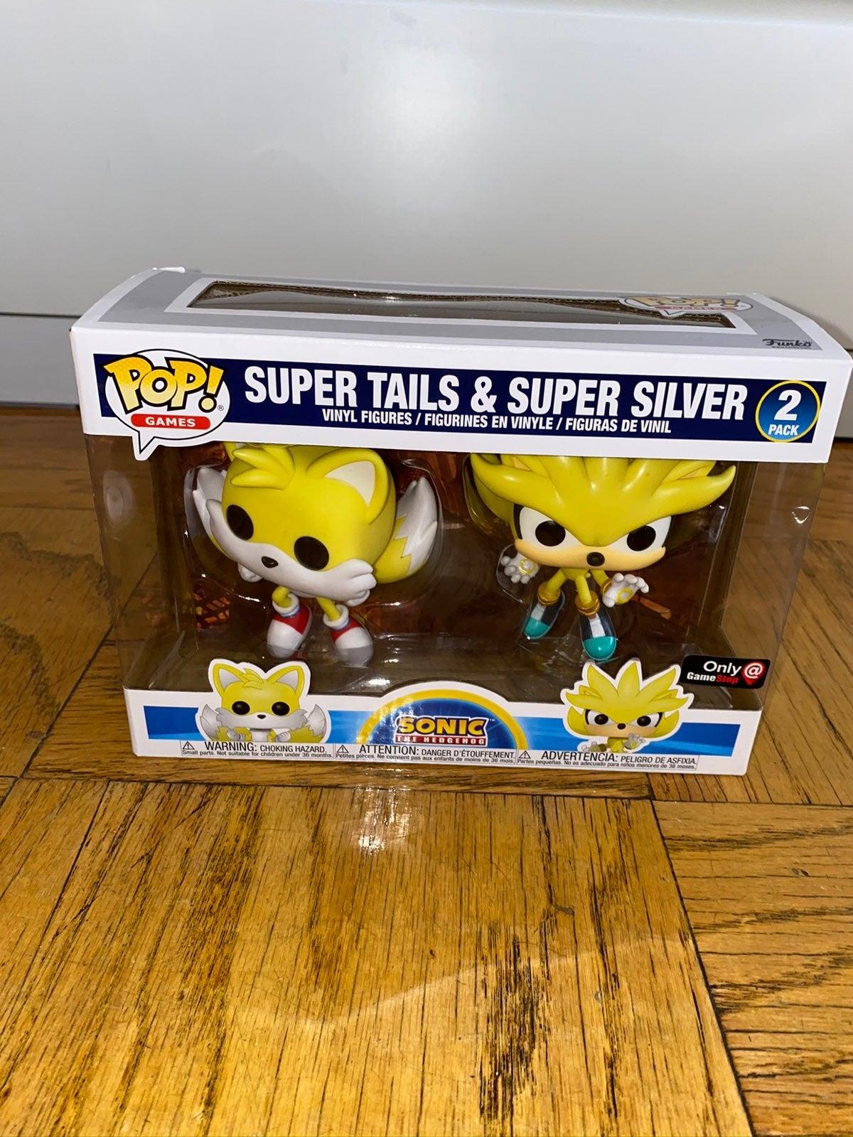 Super Tails and Super Silver Funko Pop