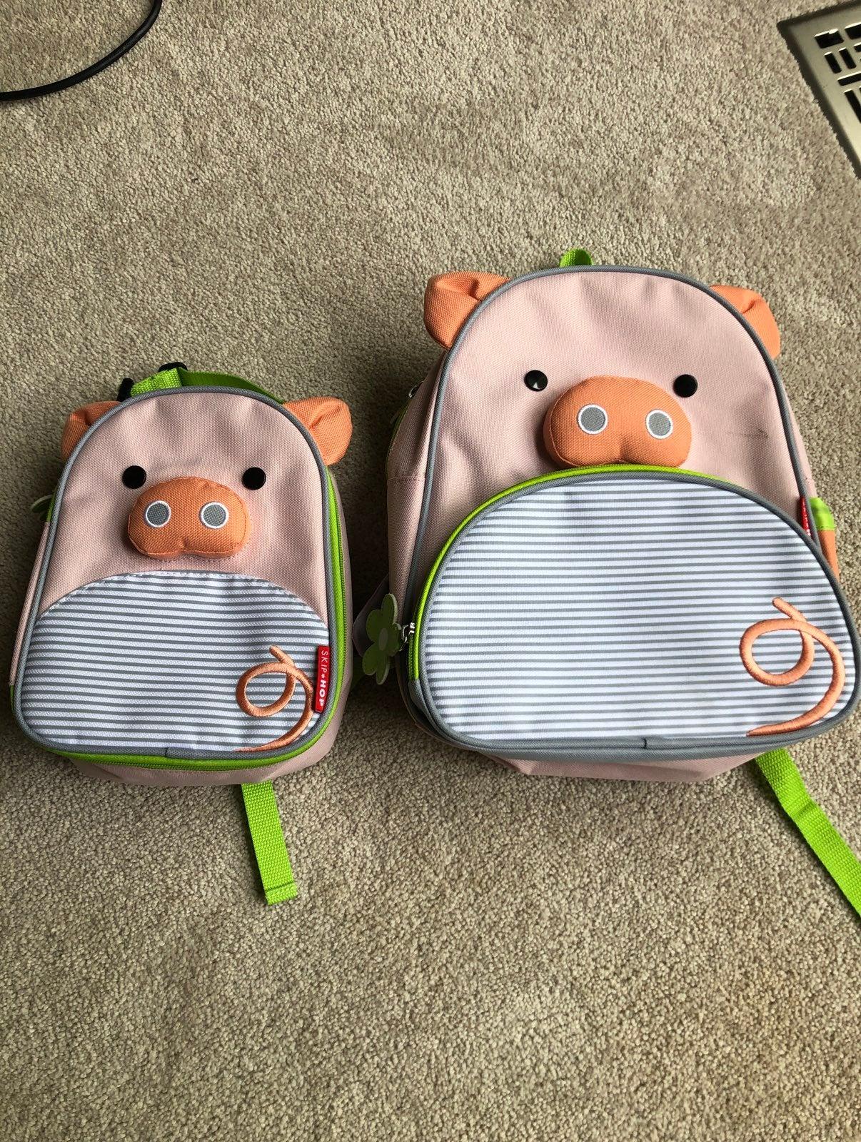 skip hop pig backpack and lunchbox set