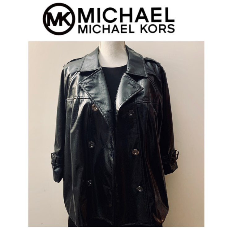 Micheal Kors glossy patent leather jacke