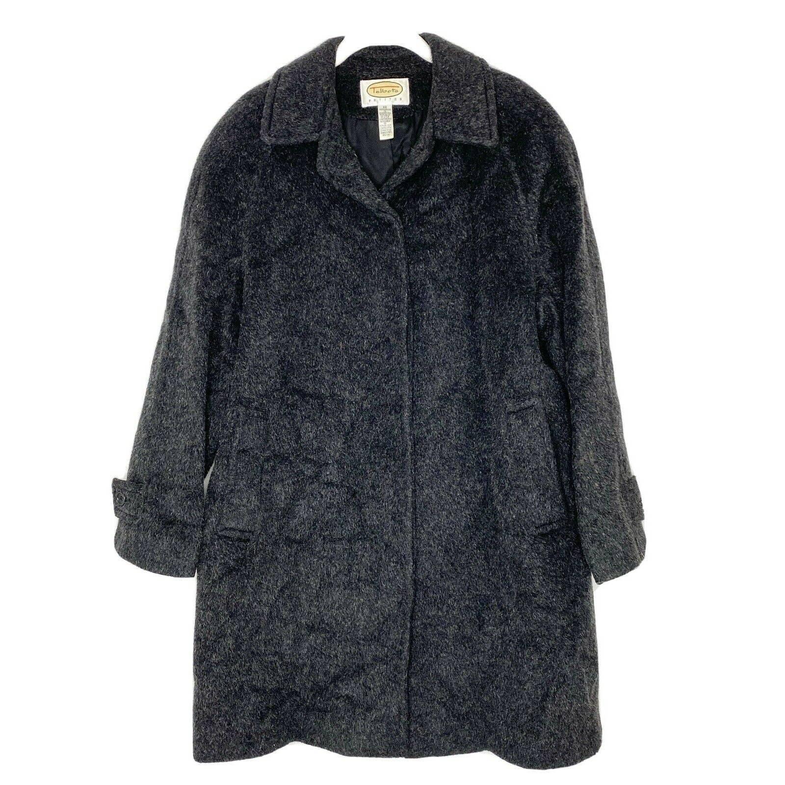 Talbots Wool Mohair Jacket Pea Coat
