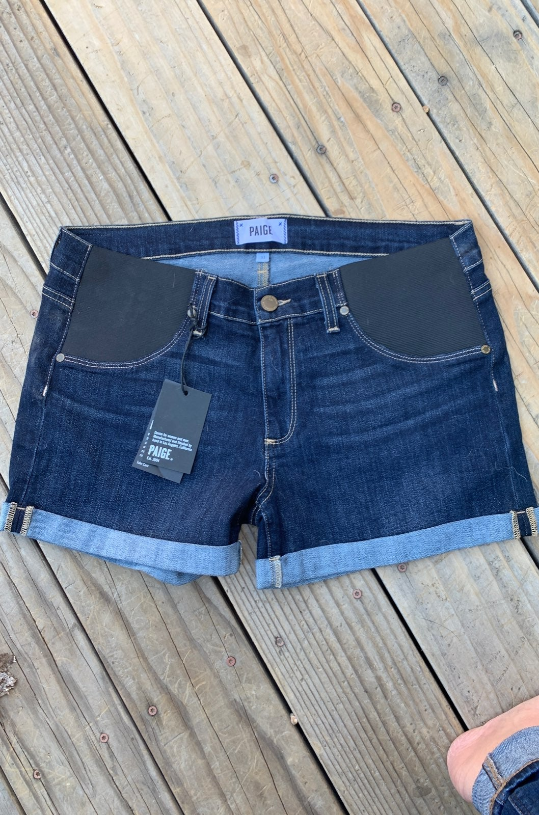 Paige jeans maternity shorts