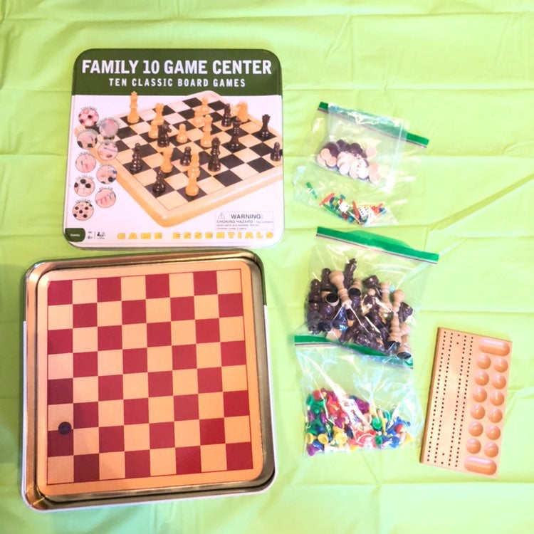 Family 10 Game Center Ten Board Game