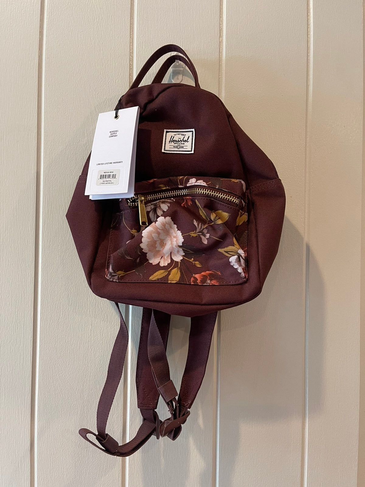 NWT Herschel Supply Co Floral Mini Backp