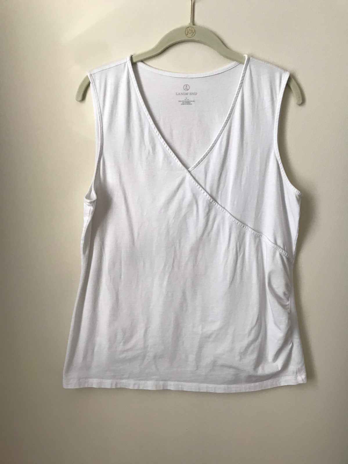 Lands End Sleeveless White Top
