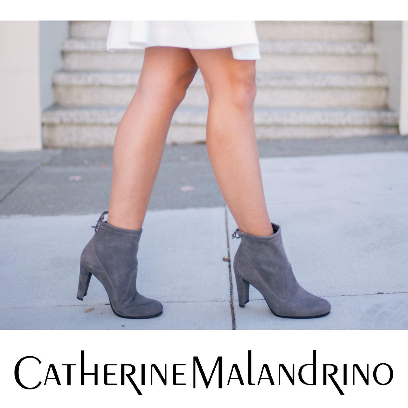 Grey Suede Catherine Malandrino Booties