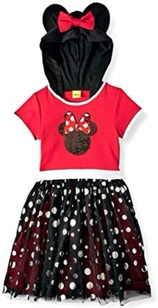 Disney Minnie Mouse Hooded Sequin Dress