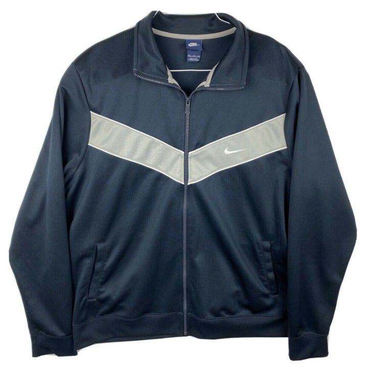 Nike Mens XXL Full-Zip track jacket blue