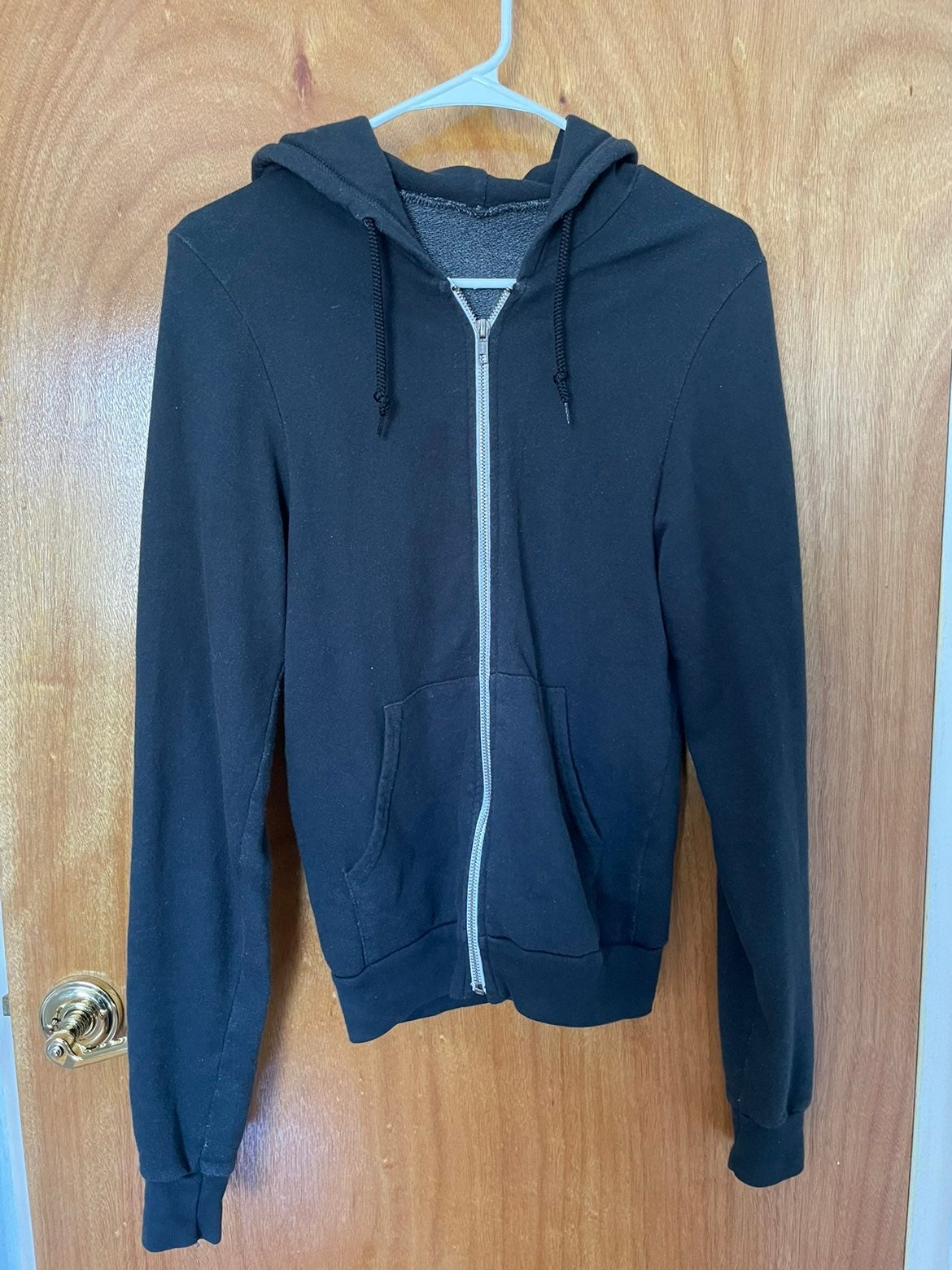 Navy American Apparel Zip up Hoodie