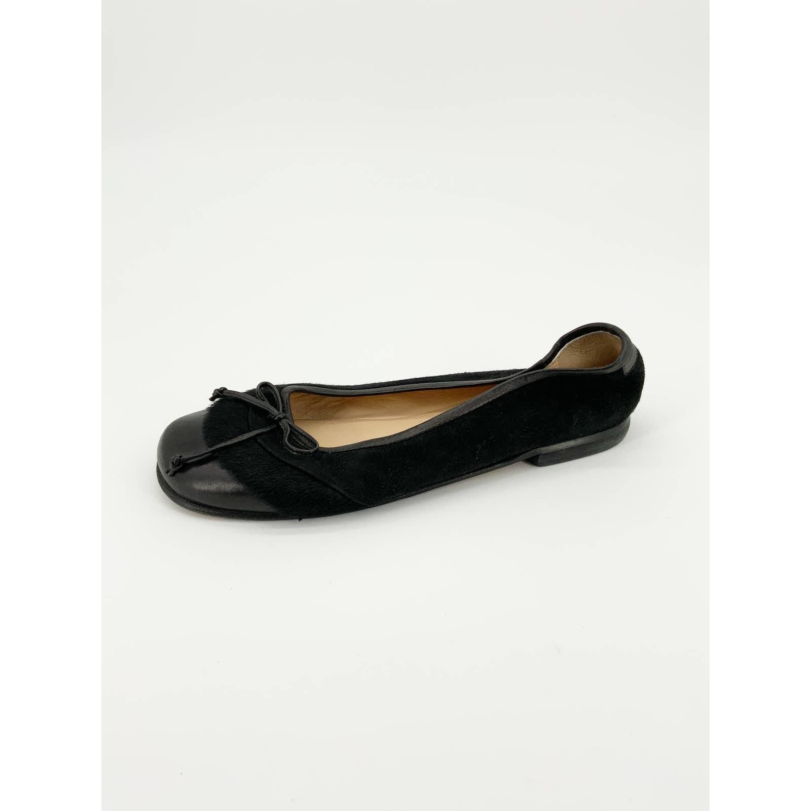 Taryn Rose Ballet Flats Leather Faux Fur
