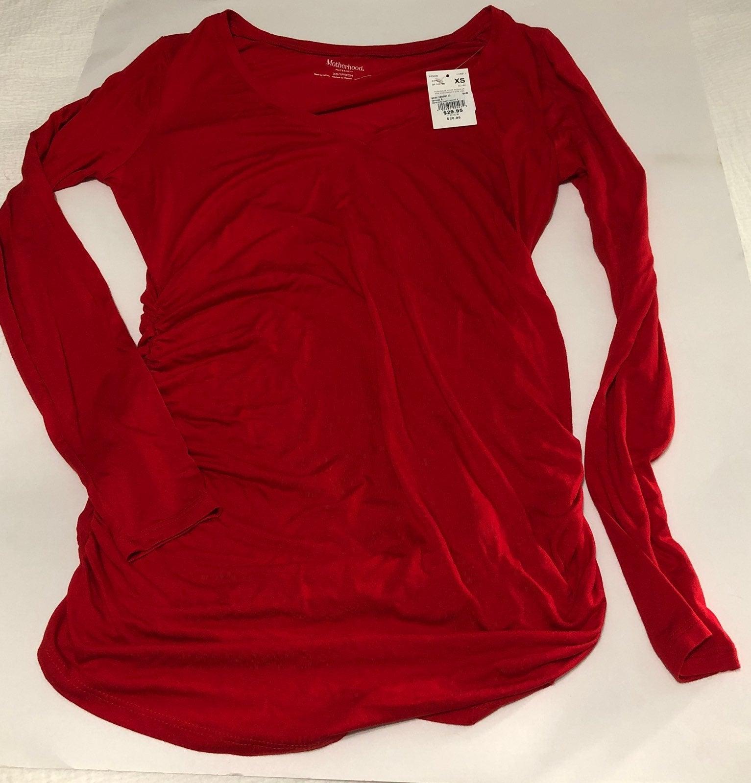 Motherhood Maternity Red Shirt XS New