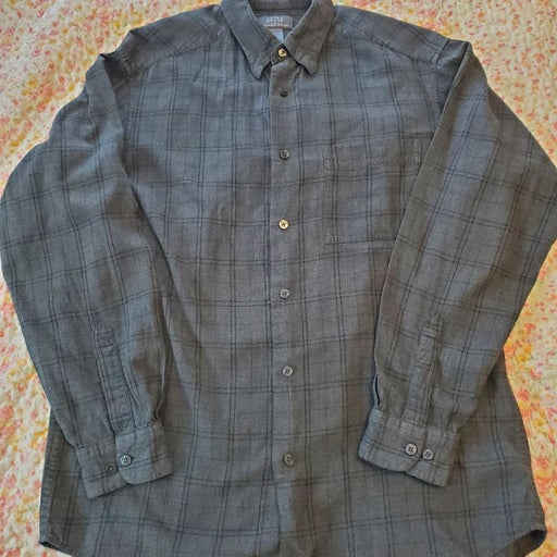 Men's Crazy Horse Brushed Cotton Shirt M