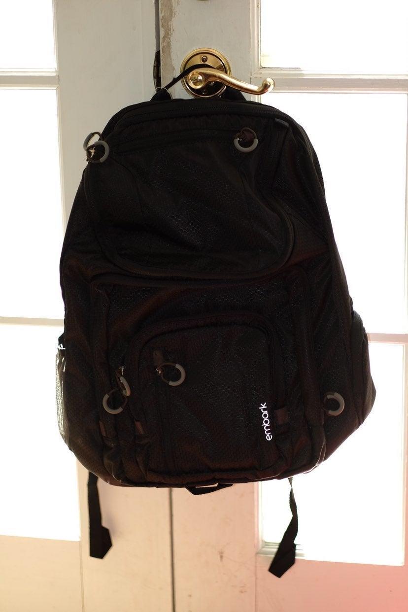Embark Black Backpack
