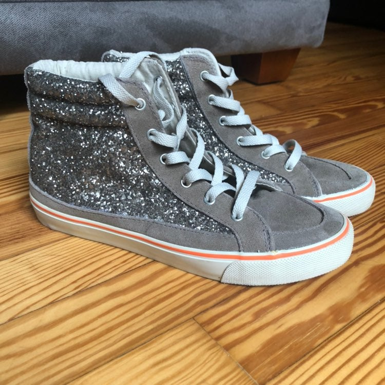 American Eagle sparkly high tops
