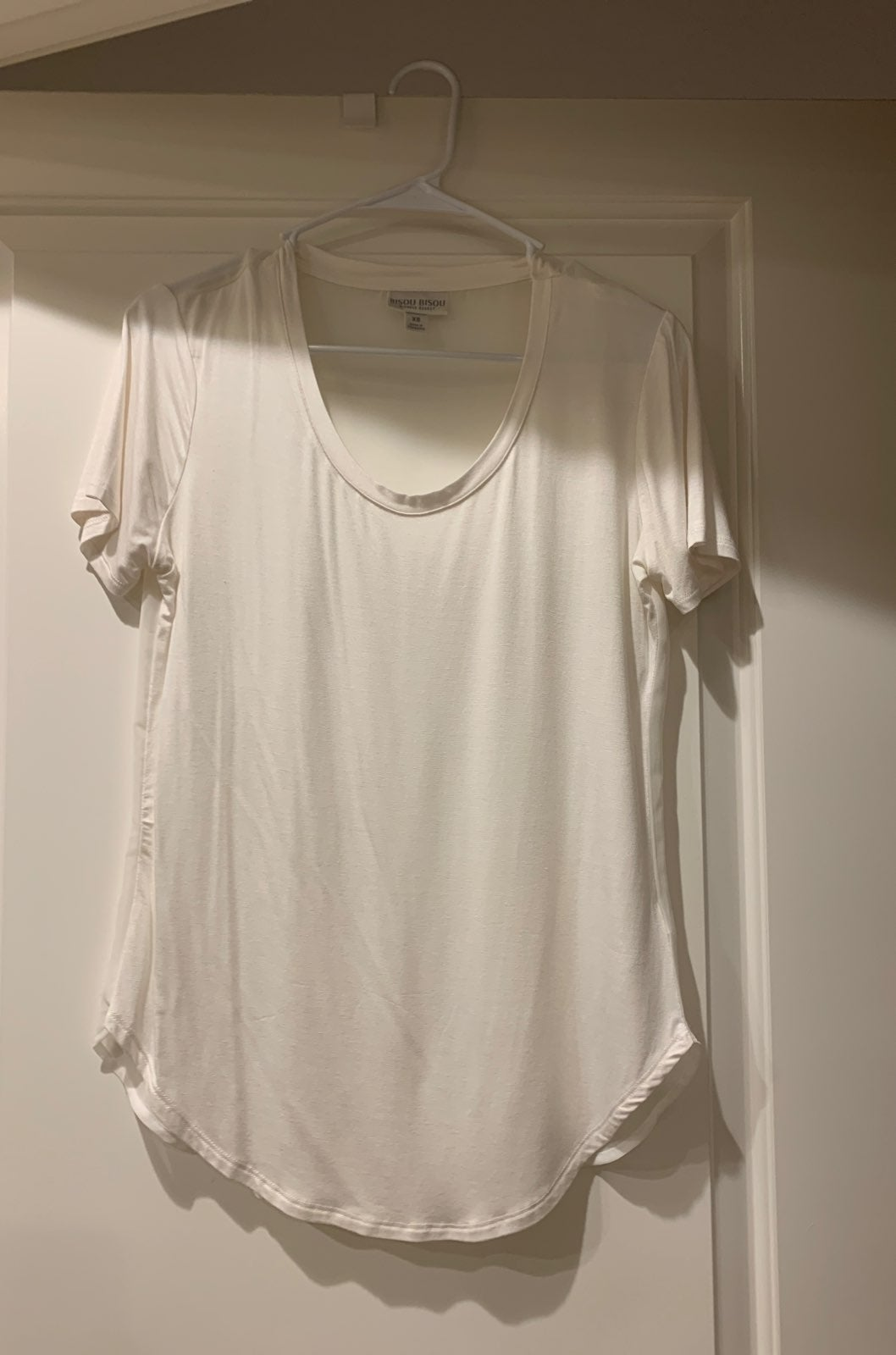 White blouse with sheer back size small
