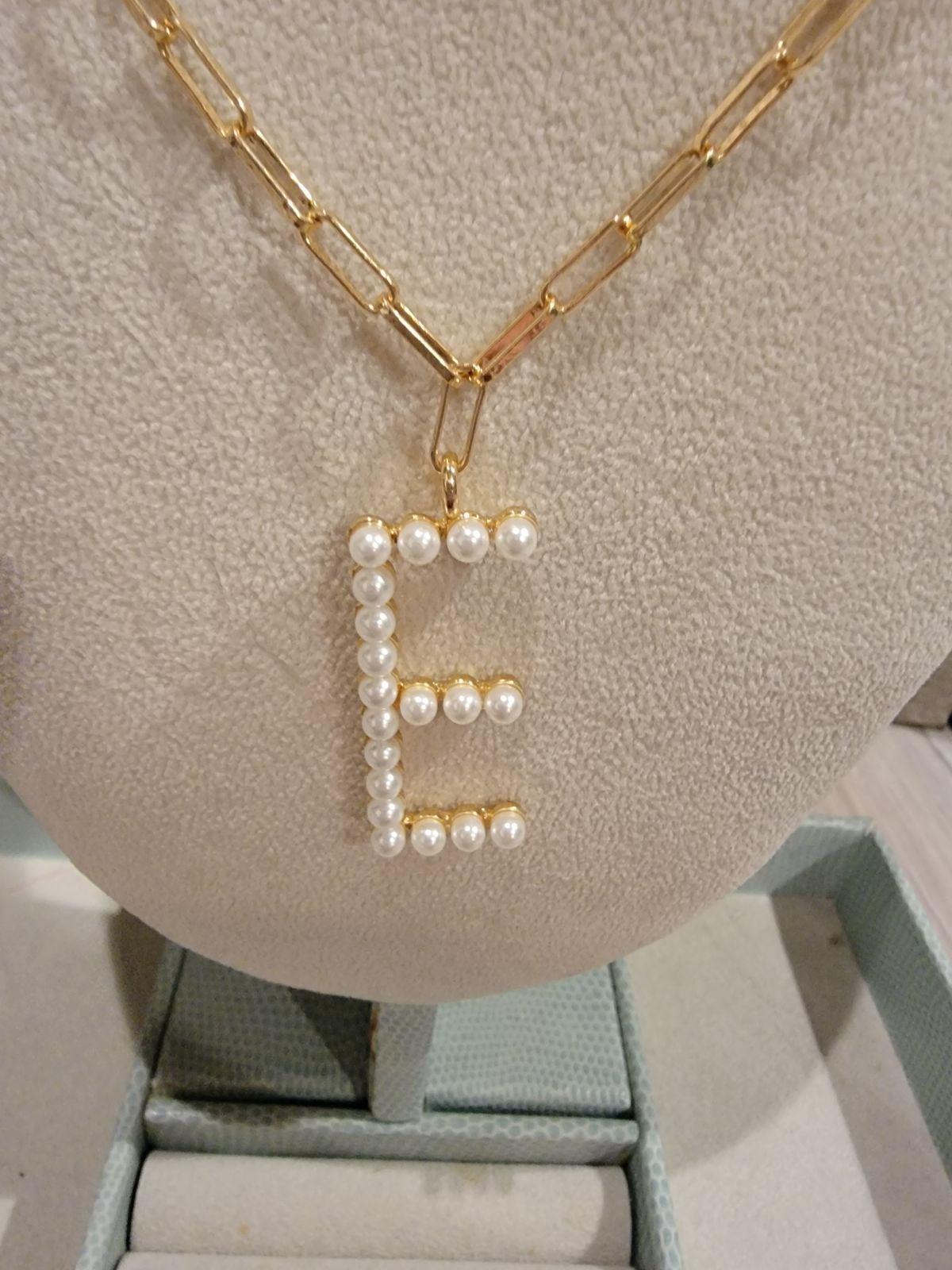 Necklace, E charm