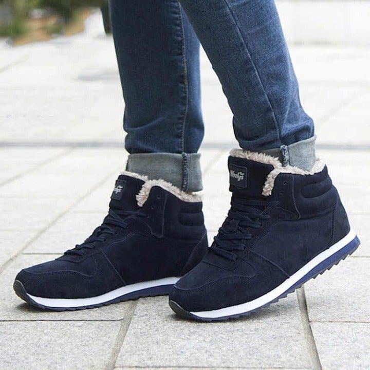 Mens Blue Fashion Snow boots