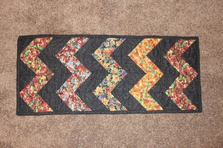 Autumn Table Runner Handmade Quilted