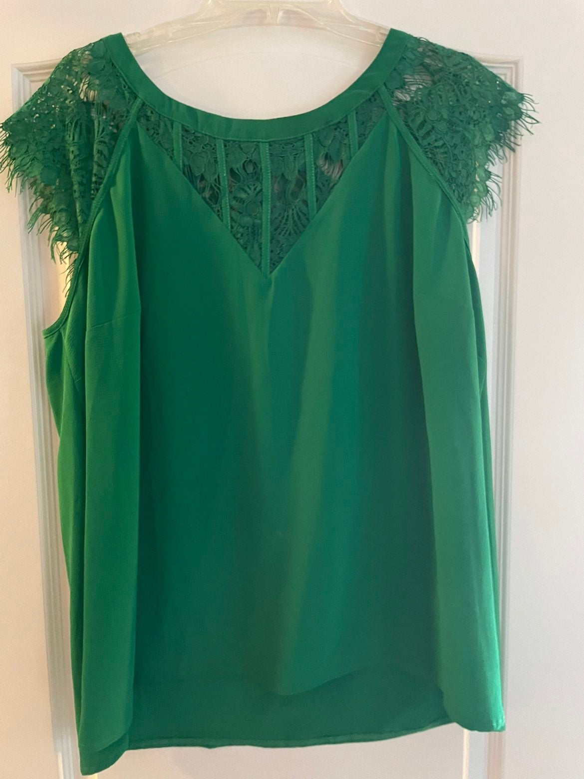 Green lace top from Stitch Fix - 2X