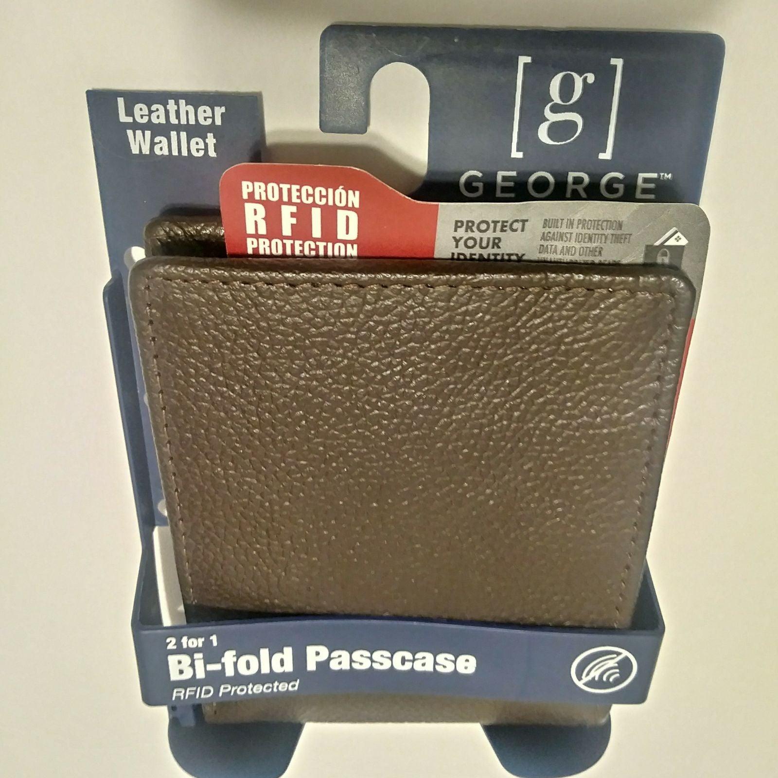 George Mens Leather RFID Wallet