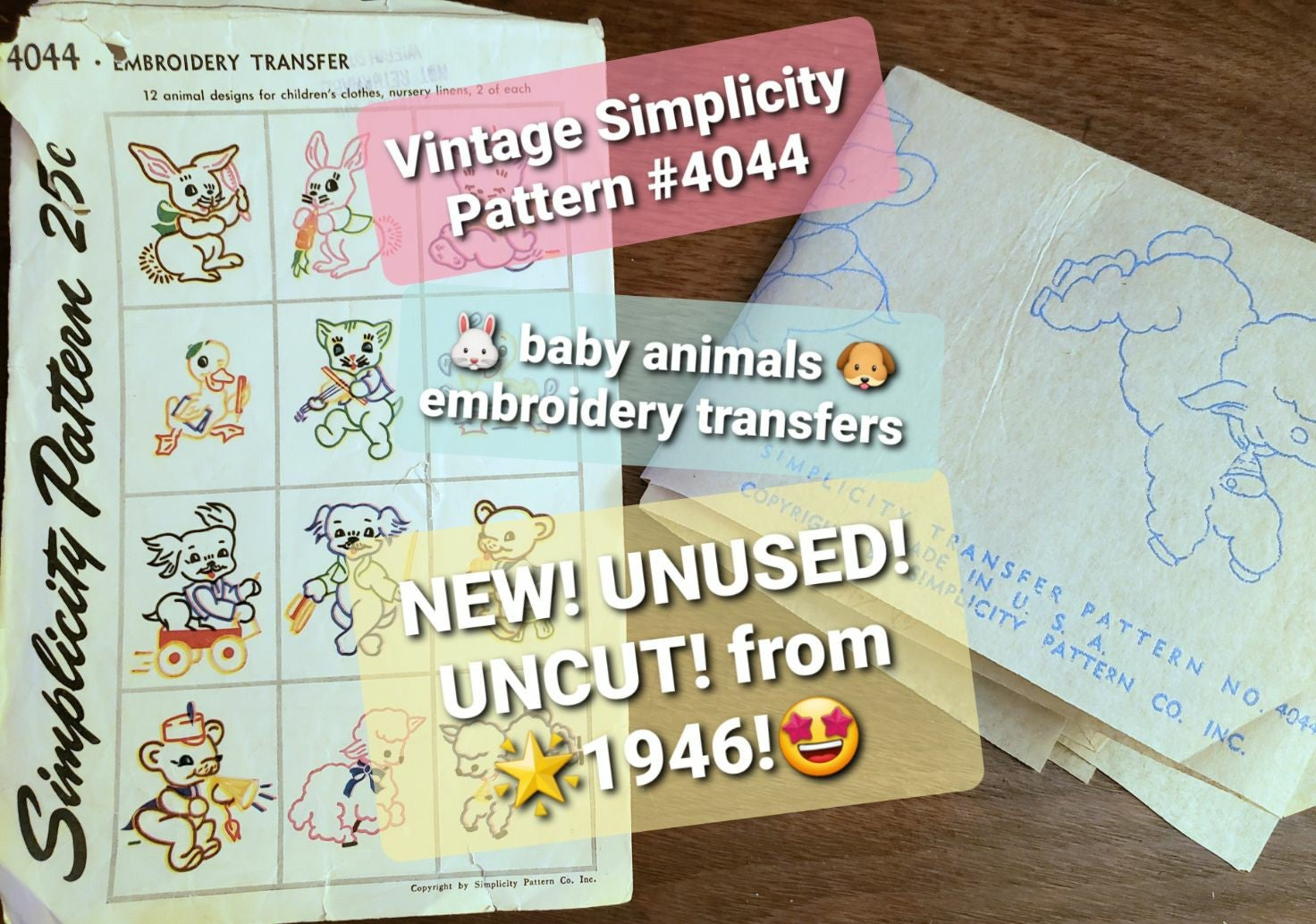 Vintage Simplicity Embroidery Transfers
