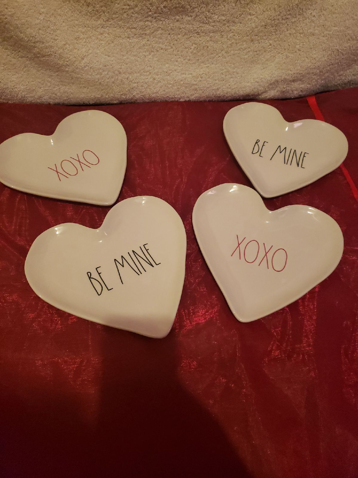 Valentines day heart plates