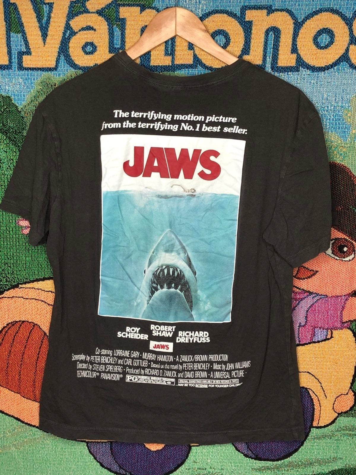 Jaws Movie Box Logo Tee