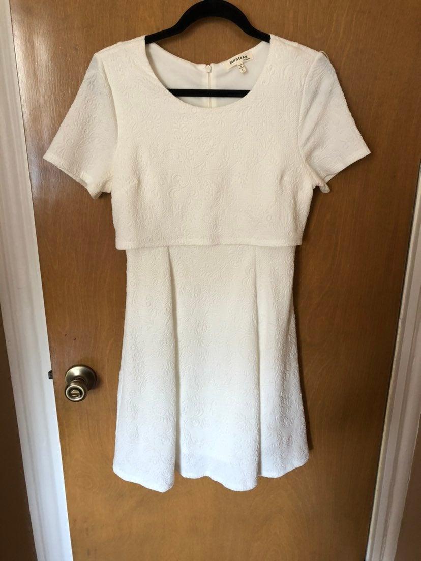 White Monteau Dress