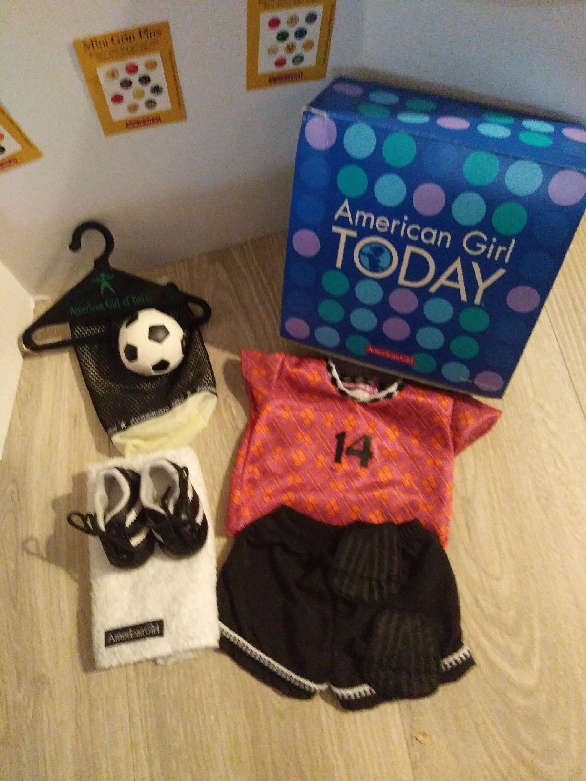 American girl of today Soccer set