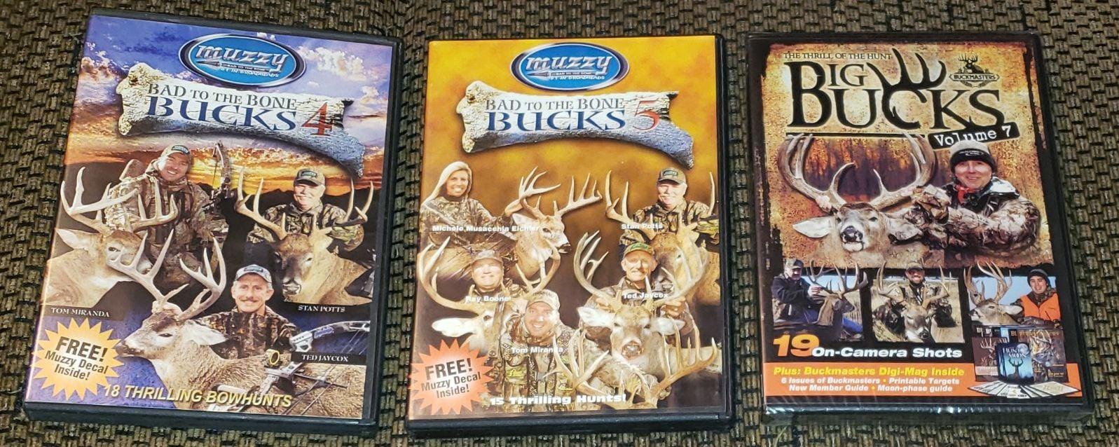 Bad To The Bone Bucks & Big Bucks DVD's