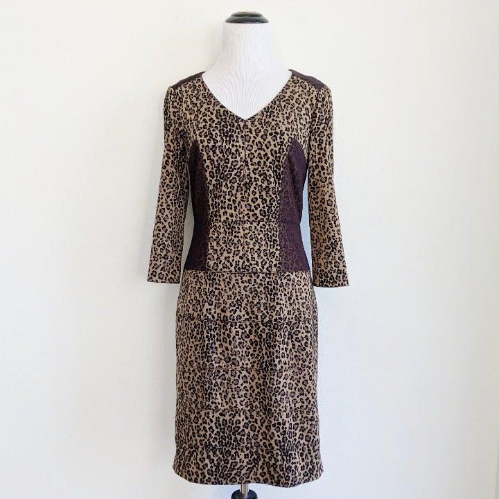 Antonio Melani Leopard Sheath Dress