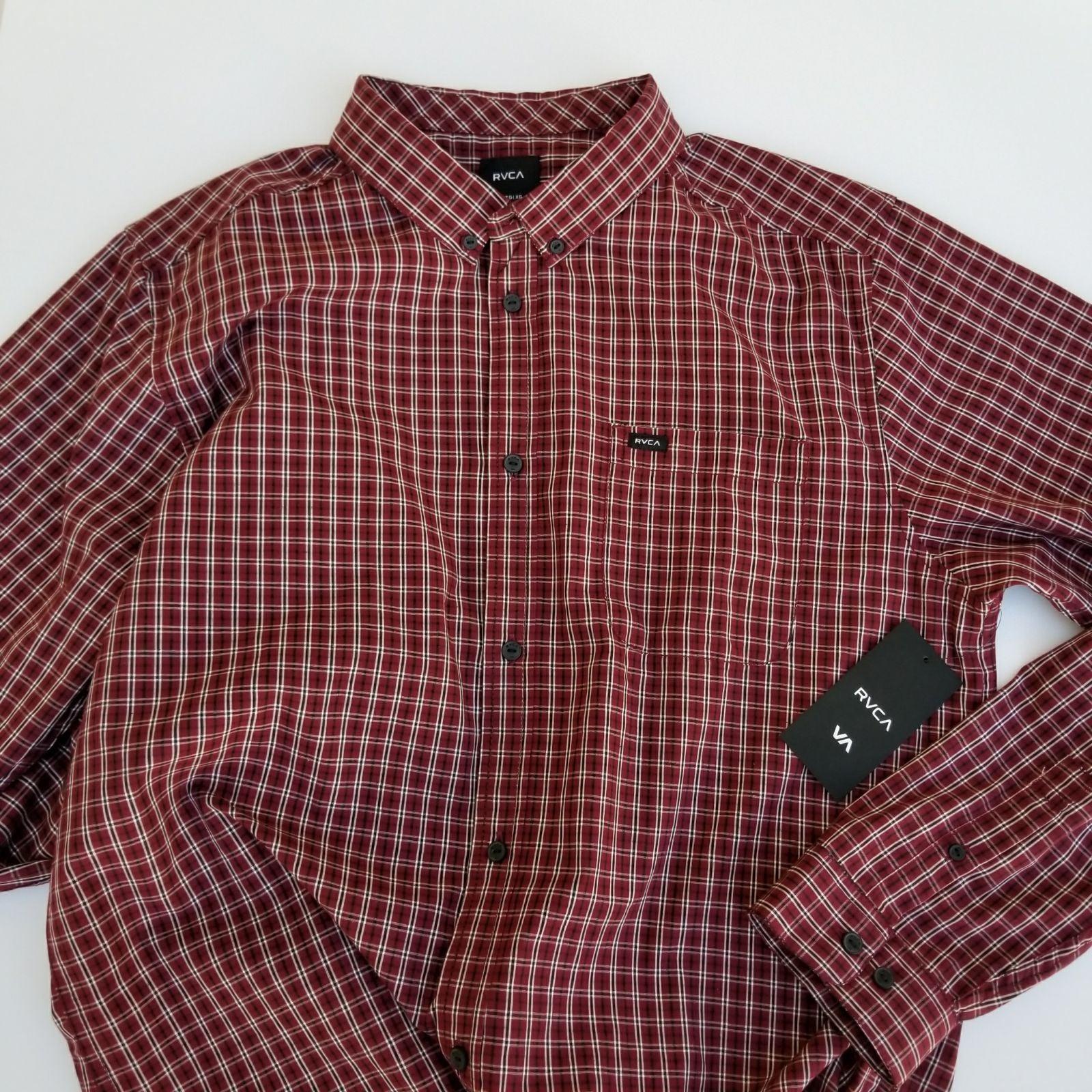 NEW! RVCA Men's l/s Shirt sz XL Slim Fit