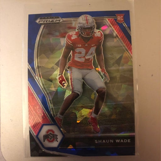 2021 blue iced numbered Shaun Wade