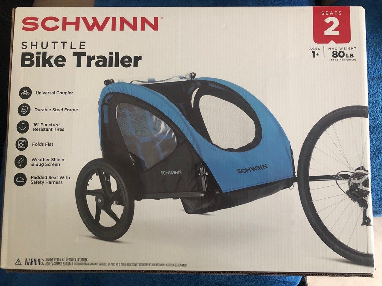 Schwinn shuttle foldable bike trailer