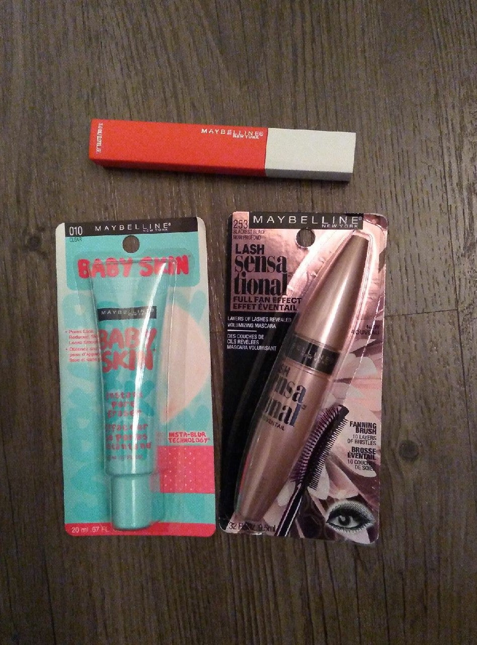 Maybelline Makeup Products Lot of 3