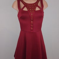ed8c8c7af28 Charlotte Russe Party Wine Dress