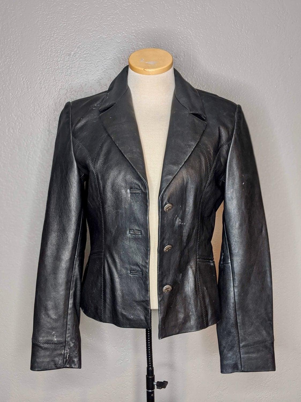 Womens Genuine Leather Jacket-Medium