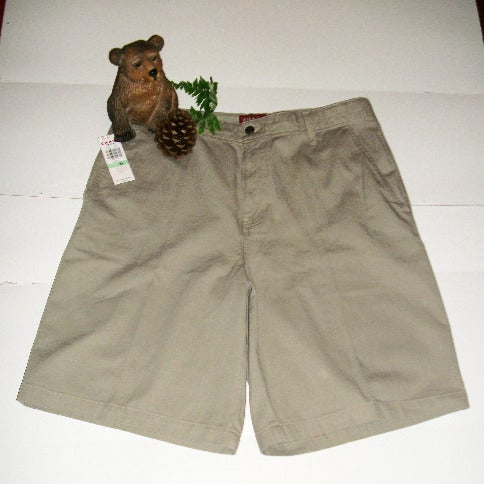 CHAPS Men's Sz 34 Shorts Khaki Denim NWT