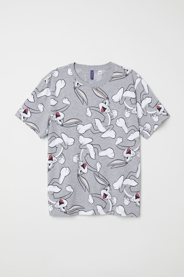 Mens Small Bugs Bunny Graphic Tee