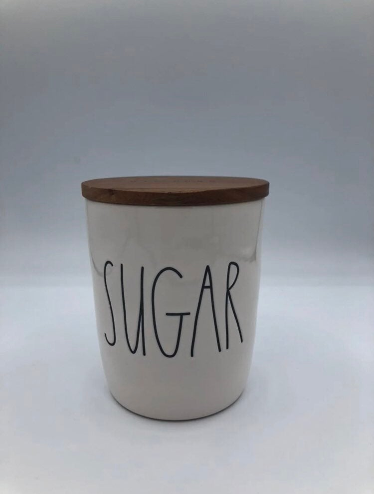 Rae Dunn sugar canister with lid