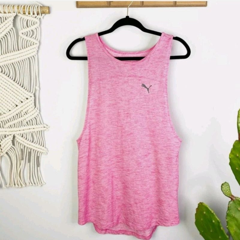 PUMA Pink Muscle Tank Top M