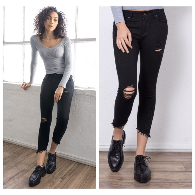 KanCan Kaelyn Mid Rise Ankle Skinny Jean