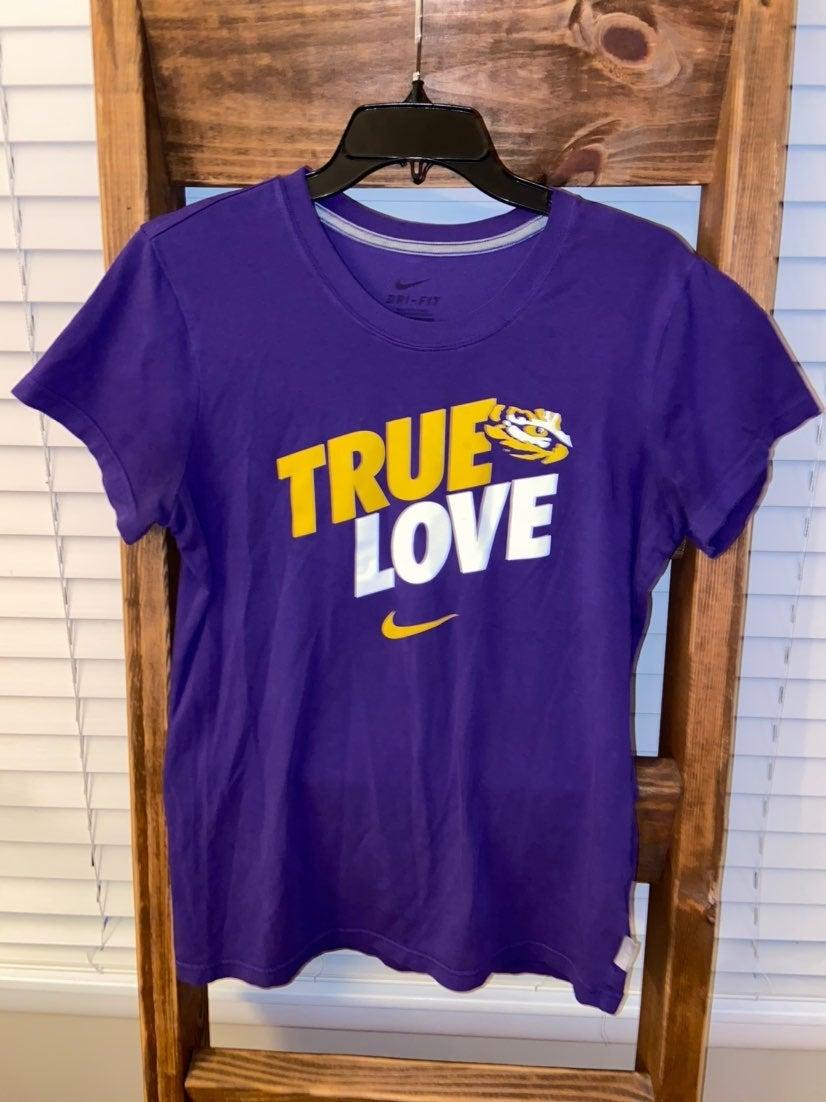 Nike LSU TIGERS Tee Womens Large
