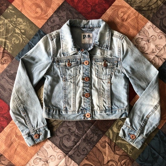 P.S Blue Jean Jacket Girl Size S