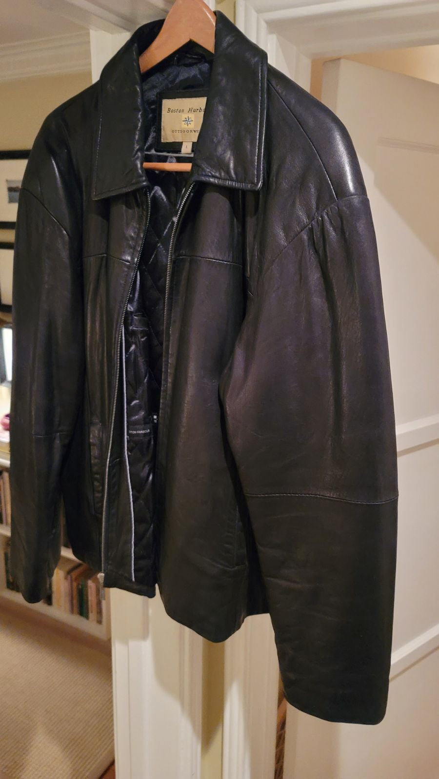 Men's Large Boston Harbour Leather Jacke