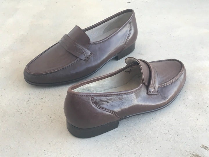 Nordstrom Women Loafers Brown Leather