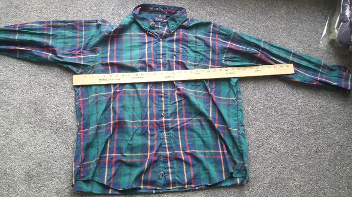 gant size 2XL red, yellow button down